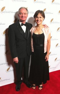 Steve with wife Denise Ciarlo at Hollywood, CA author awards ceremony.