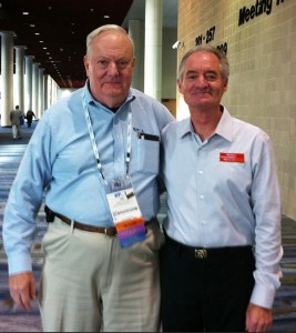 At the Global Congress Steve connected with James R. Snyder, founder of the Project Management Institute.